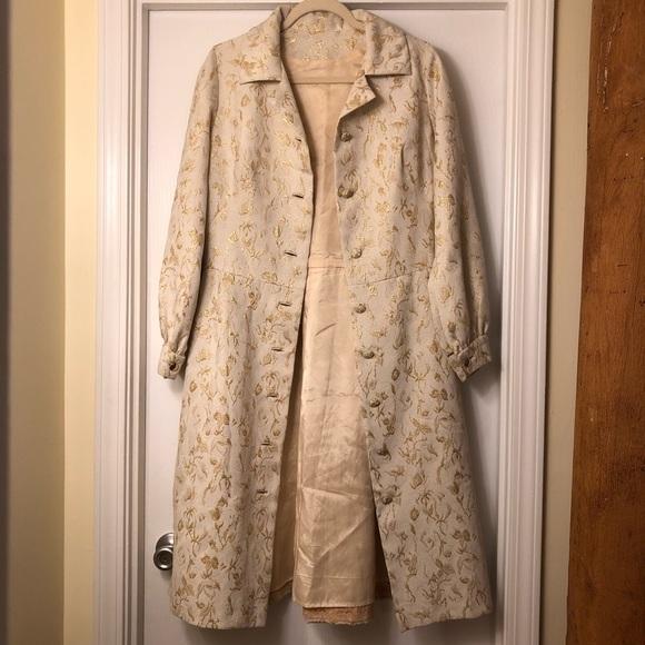 Image result for beige and gold brocade jacket